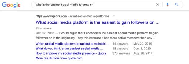 какие социальные сети легче всего развивать в поиске Google