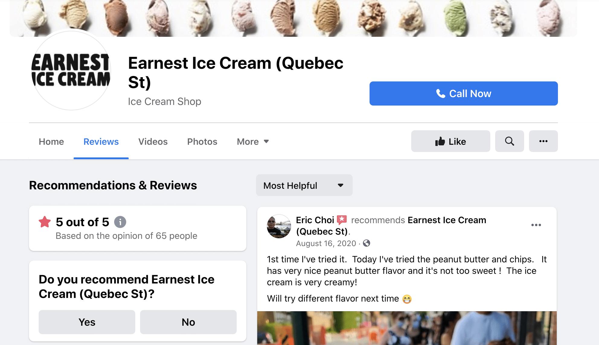 Отзывы клиентов Earnest Ice Cream
