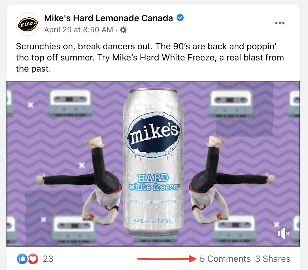 Mike's Hard Lemonade Canada Комментарии на Facebook