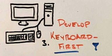 Фотография нарисованного вручную компьютера и клавиатуры.