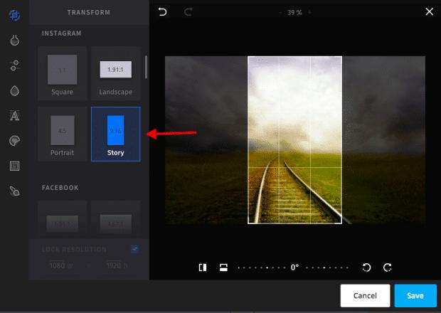 Снимок экрана рабочего процесса планирования Instagram Story в Hootsuite