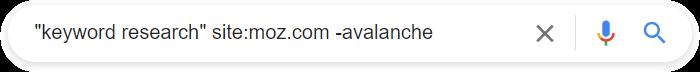 Исследование ключевых слов Поиск в Google с операторами поиска.