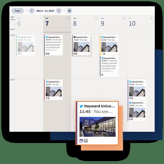 Панель управления планировщиком социальных сетей Hootsuite