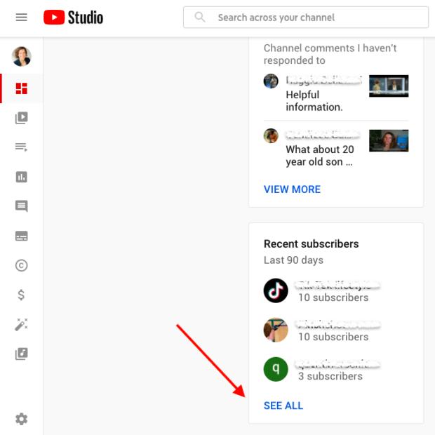 Подписчики YouTube видят всех недавних
