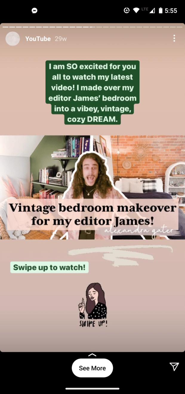Instagram-история винтажный макияж спальни