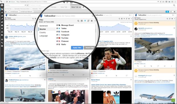 Анализ конкуренции в социальных сетях с помощью Talkwalker Insights на панели инструментов Hootsuite