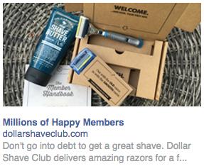 Снимок экрана с рекламой в правой колонке Facebook
