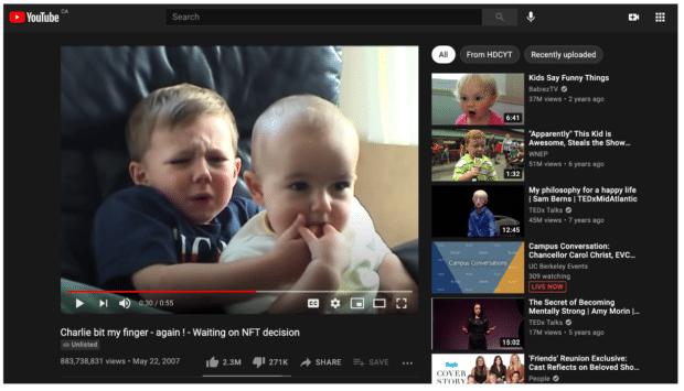 Предлагаемое видео алгоритм Чарли укусил меня за палец
