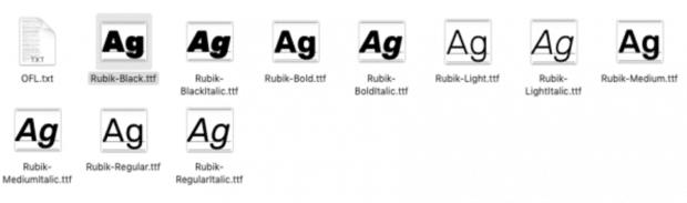 установка шрифта Google на рабочий стол