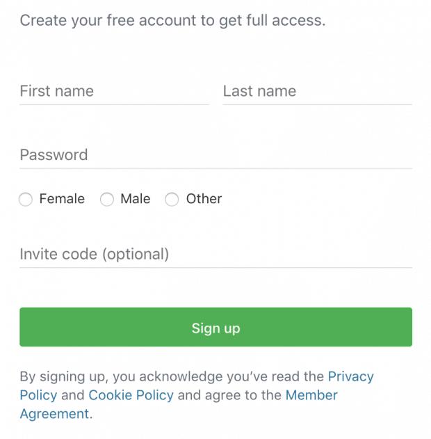 добавьте имя на странице создания учетной записи Nextdoor