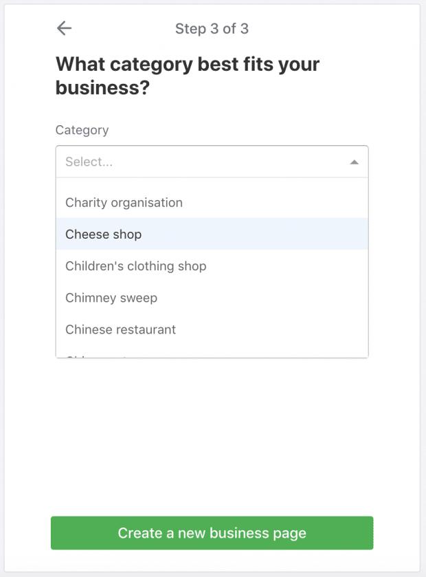Как создать бизнес-профиль Nextdoor: выбрав раскрывающееся меню бизнес-категории