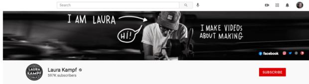 Лора Кампф, баннерная реклама на YouTube