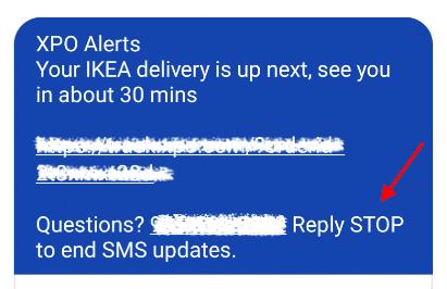 IKEA отказывается от уведомлений по текстовым сообщениям