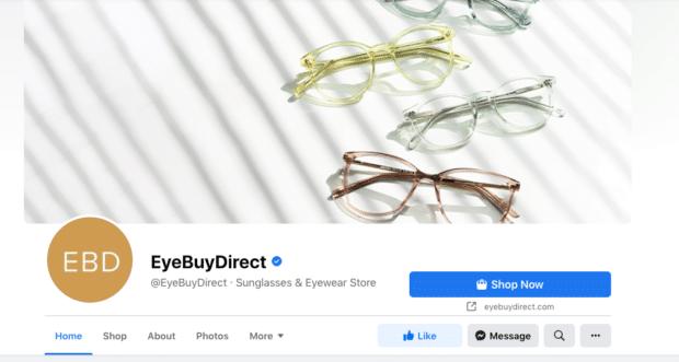 Кнопка Eye Buy Direct Shop Now