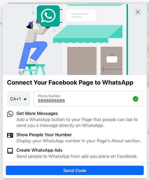 Подключить страницу Facebook к WhatsApp