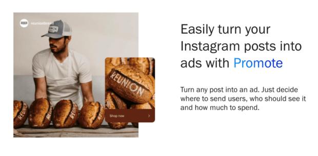 Turn Рекламу из Instagram в сообщения с помощью Promote