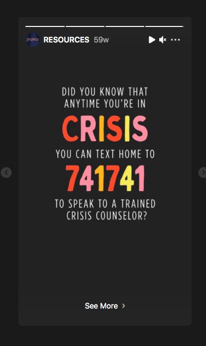 Телефон кризисной службы поддержки JanSport