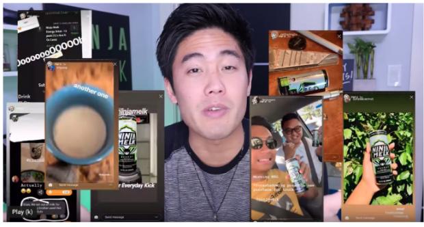 Райан Хига показывает клипы людей, использующих его продукт, на YouTube