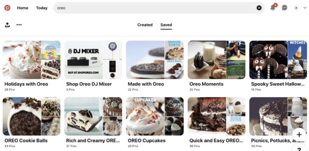 Сезонные значки и идеи рецептов доски Oreos Pinterest