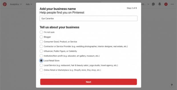 добавьте название компании и опишите тип бизнеса