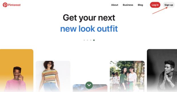 Зарегистрируйте бизнес-аккаунт Pinterest