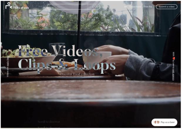 Life of Vids бесплатные видеоклипы и лупы