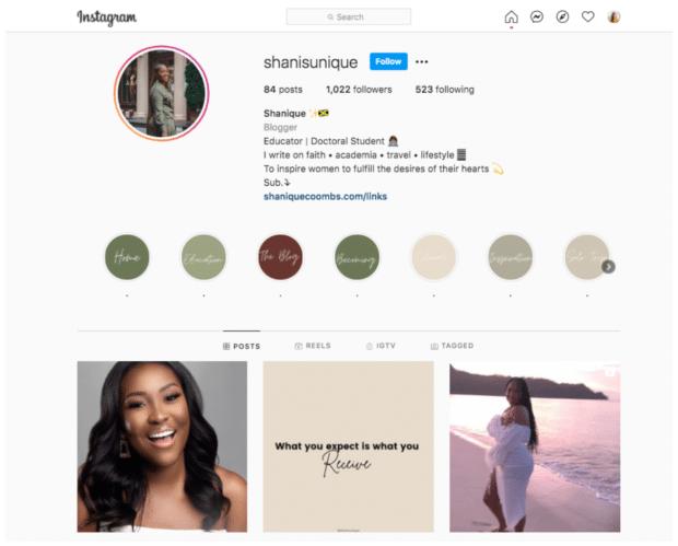 shanisunique образовательный и докторский влиятельный человек Instagram нано-влиятельный человек