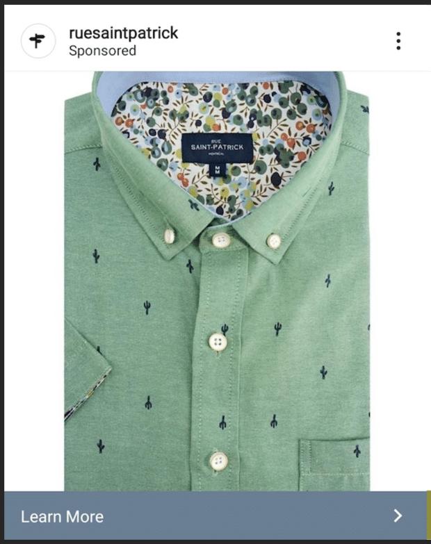 Зеленая рубашка на улице Святого Патрика