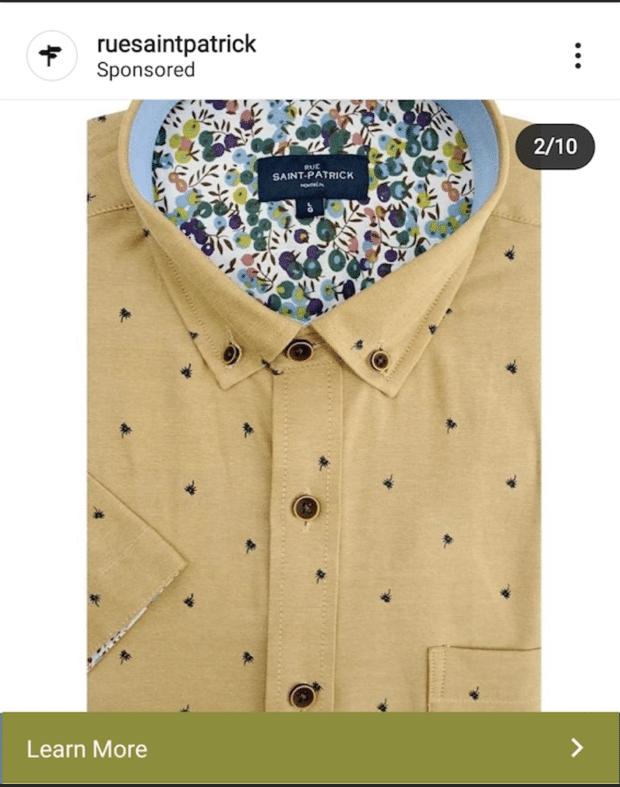 Коричневая рубашка на улице Святого Патрика