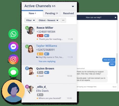 Активные платформы инструмента обслуживания клиентов Spark Central